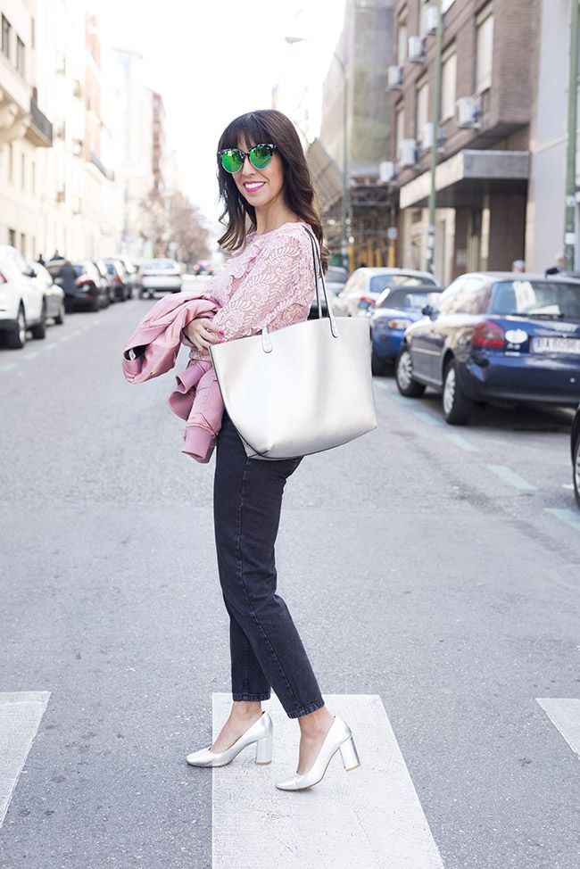 bomber rosa raso look outfit